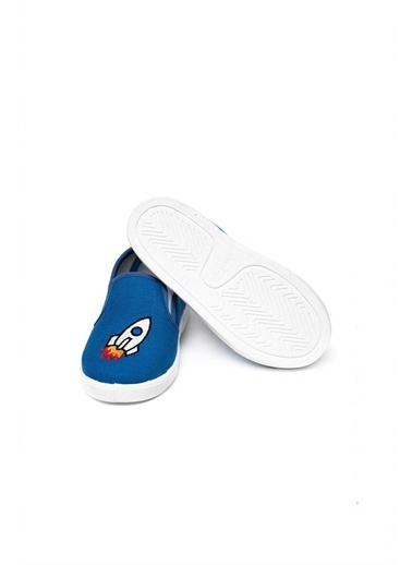 First Step Keten Çocuk Ayakkabı F-471-7 Saks